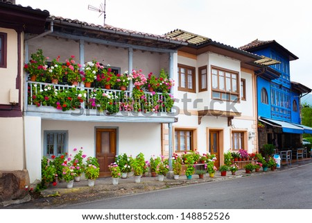 Beautiful cottages in Northern Spain. Espinaredo, Asturias. Spain