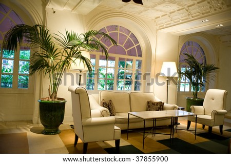 Beautiful couches and chairs with comfortable cushions