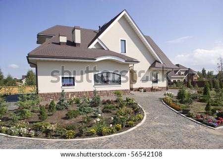 Beautiful country house - stock photo