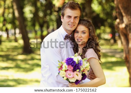 Beautiful couple on their ceremony