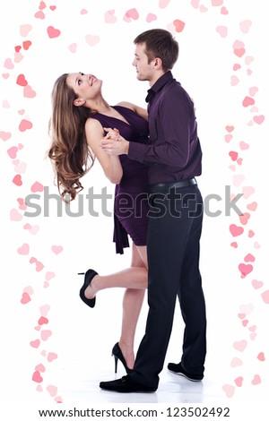 Beautiful couple.Valentine's day - stock photo