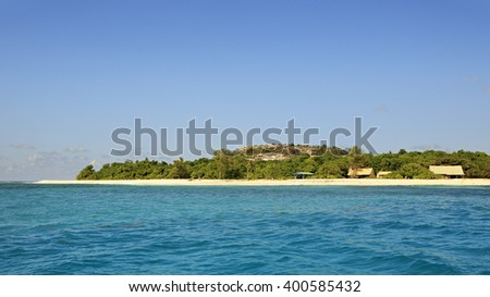 Beautiful Cousin Island in the Indian Ocean, Seychelles. - stock photo
