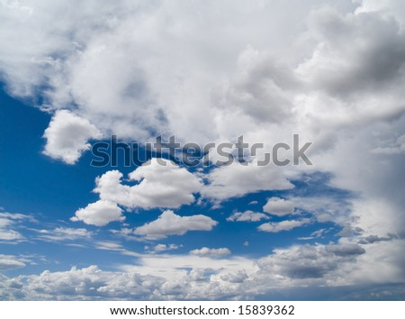 Beautiful cumulus cloudscape