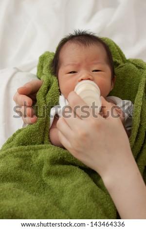 Beautiful Cute Baby Asian Girl - stock photo