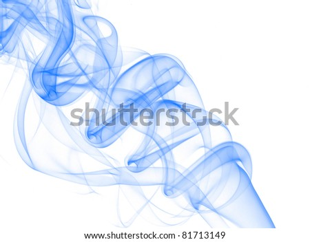 Beautiful dark blue wave of a smoke and hum - stock photo