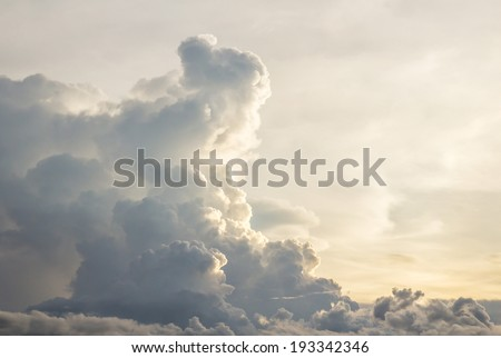Beautiful dark clouds before a thunder storm - stock photo