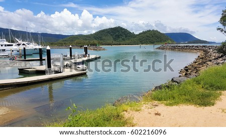 beautiful day at Yorkeys Knob marina Cairns Australia