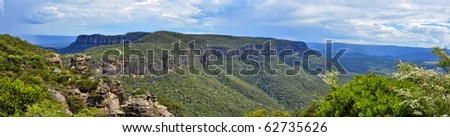 Beautiful day in the Blue Mountains, Australia - stock photo