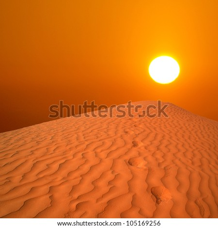 beautiful day in the dunes of Africa - stock photo