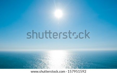 Beautiful day on Atlantic Ocean - stock photo