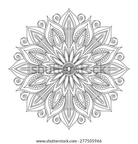 Beautiful Deco Mandala, Patterned Design, Amulet - stock photo