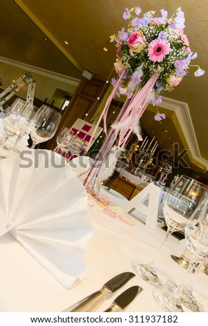 Beautiful decoration for a wedding party - stock photo