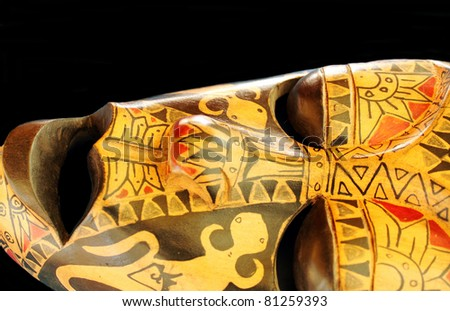 Beautiful Decorative Close-up of African or Aboriginal Mask