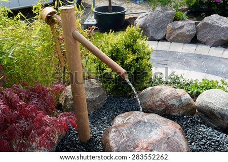 Beautiful Decorative Japanese Home Garden Bamboo Waterfall Pond