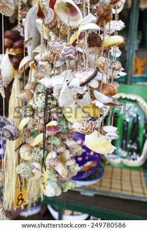 beautiful decorative shell at touristic market in europe - stock photo