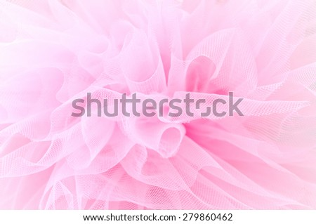 Beautiful delicate pink background mesh fluffy fabric - stock photo