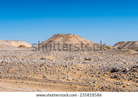 Beautiful desert landscape in Egypt - stock photo