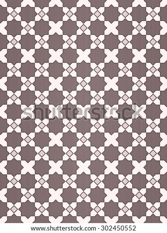 Beautiful design mosaic of colorful tiles pattern in beige and cream and white. - stock photo