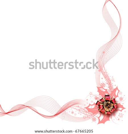 Beautiful design of white background red ribbon and red bow. - stock photo