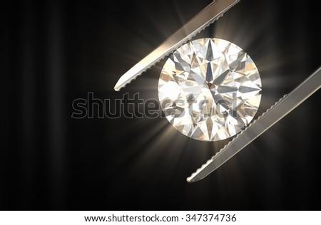 Beautiful diamond 3d rendering. - stock photo