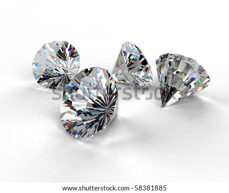 beautiful diamonds - stock photo