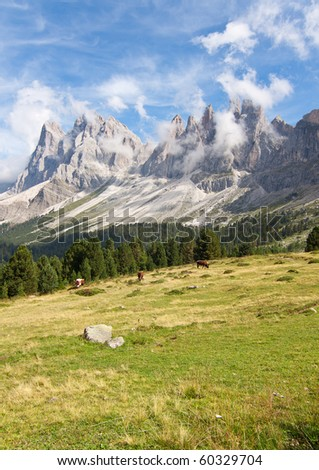 Beautiful dolomites alps landscape - stock photo
