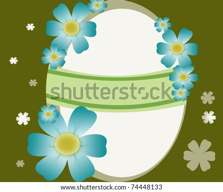Beautiful Easter  card - stock photo