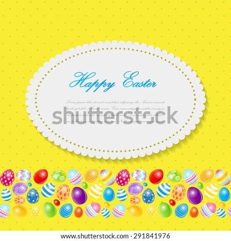 Beautiful Easter Egg Background  Illustration  - stock photo