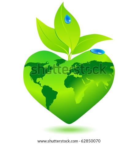 Beautiful eco globe - stock photo