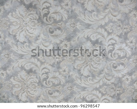 Beautiful, elegant geometric and floral decorative background in grey, silver and white. Ideal for oriental, decorative, interior and abstract design. - stock photo