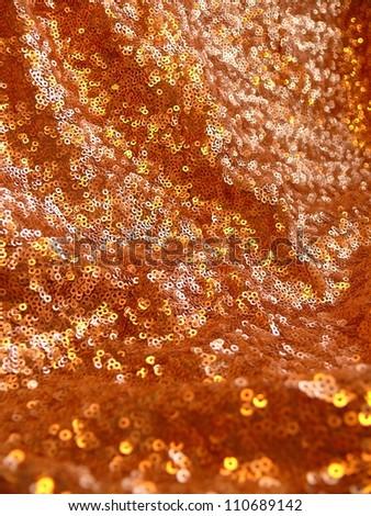 Beautiful, elegant, golden, sparkling sequins texture. - stock photo
