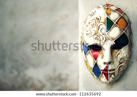 Beautiful elegant venetian mask - stock photo