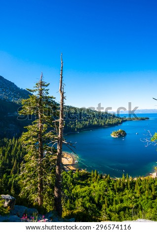 Beautiful Emerald bay, Lake Tahoe, California - stock photo
