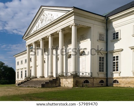 beautiful empire chateau Kacina in Czech in Europe - stock photo
