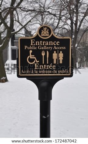 Beautiful entrance signpost - stock photo