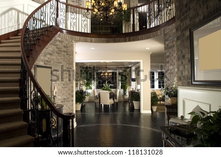 Beautiful Entry Staircase This Luxury Stairway Stock Photo Edit Now 118131028 Shutterstock
