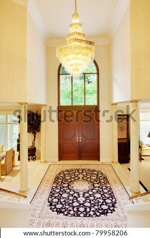Beautiful Entryway In Luxury Home - stock photo