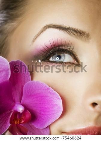 Beautiful Eye Makeup - stock photo