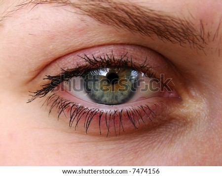 Beautiful eye of young girl