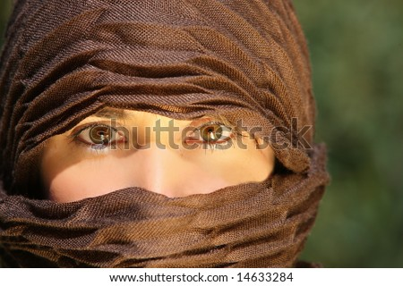 Beautiful eyes of an Arab woman