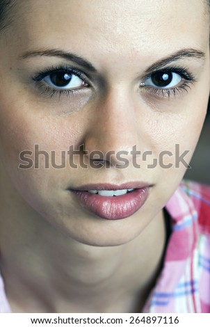 Beautiful face - stock photo