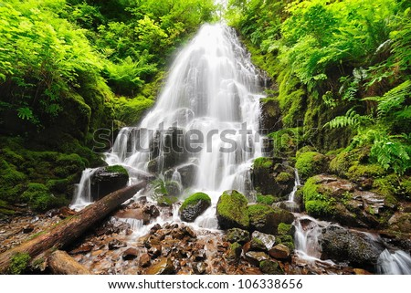 Beautiful fairy falls - stock photo