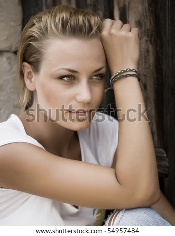 Beautiful Fashion Girl - stock photo