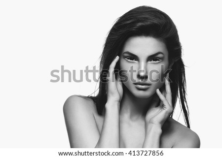 Beautiful fashion model - stock photo