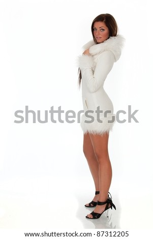 beautiful fashion pictures of models in studio wearing white