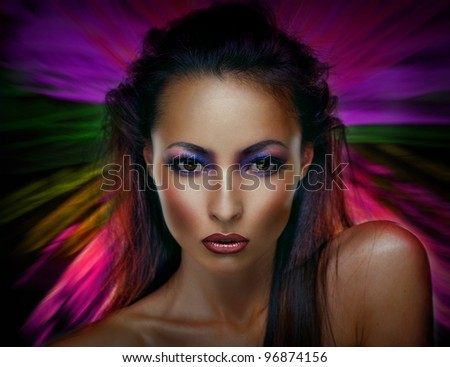 Beautiful Fashion Woman - stock photo
