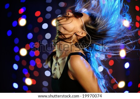 Beautiful female dancing - stock photo