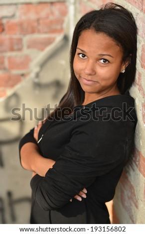 beautiful female fashion model  - stock photo