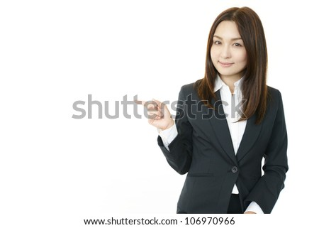 Beautiful female office worker - stock photo