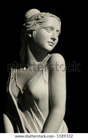 Beautiful Female Statue - stock photo